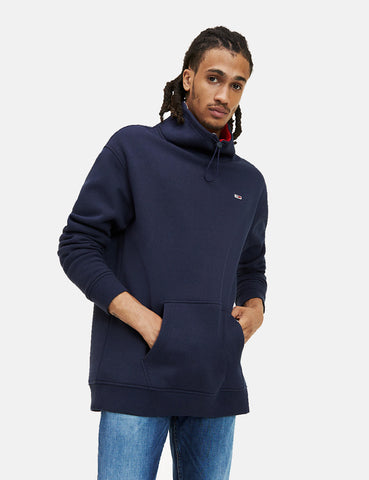 Tommy Jeans Solid Mock Neck Sweat - Black Iris/Navy Blue