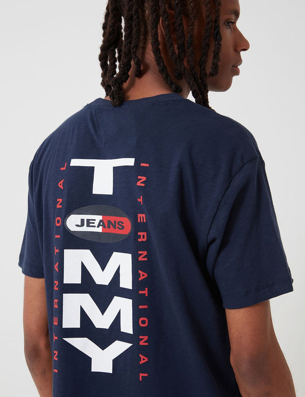 T-Shirt à Logo Dos Vertical Tommy Jeans - Twilight Navy