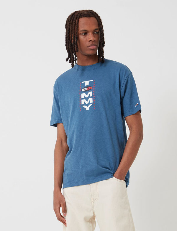 Tommy Jeans Vertical Back Logo T-Shirt (Oversized Fit) - Audacious Blue