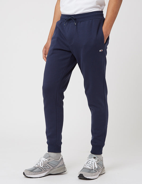 Tommy Jeans Fleece Sweat Pants (Slim) - Twilight Navy Blue