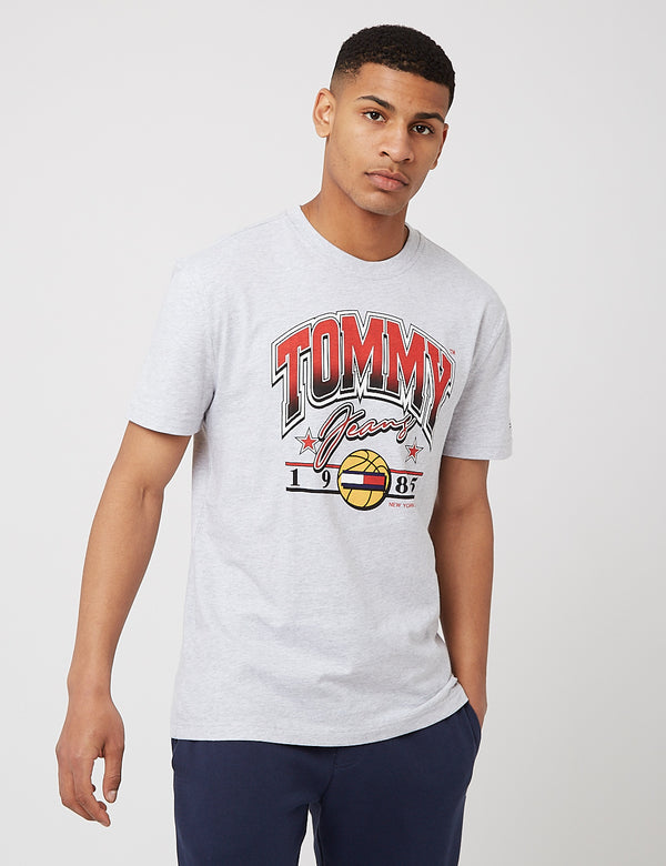 T-Shirt de Basketball Tommy Jeans Varsity - Silver Grey Heather
