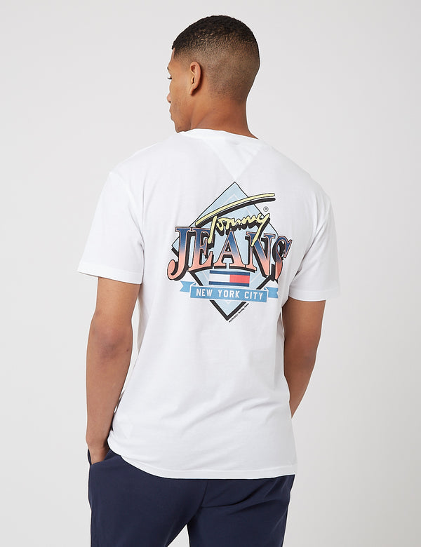 T-shirt Tommy Jeans Diamond Back Logo - Blanc