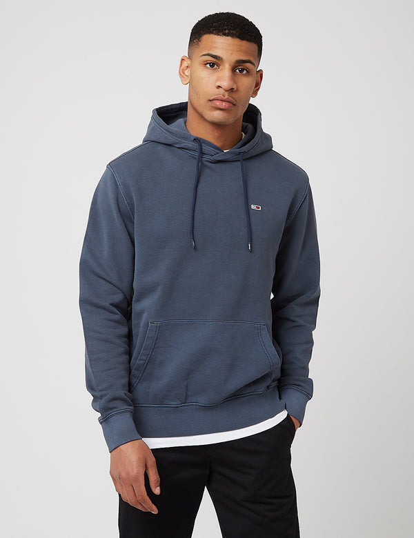 Tommy Jeans Washed Basketball Hoodie - Twilight Navy Blue