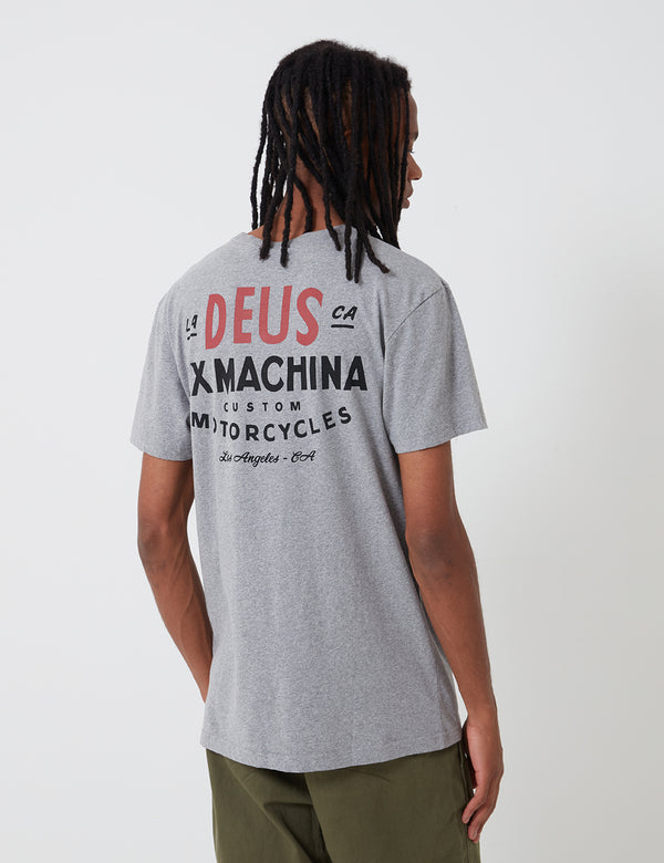 T-Shirt Deus Ex Machina Sentiments - Grey Marle
