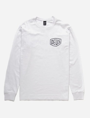 Deus Ex Machina Long Sleeve Venice LA T-shirt - White