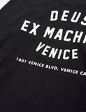 Deus Ex Machina Long Sleeve Venice LA T-shirt - Black