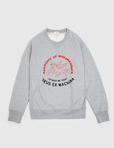 Deus Ex Machina Trust Sweat - Grey Marl