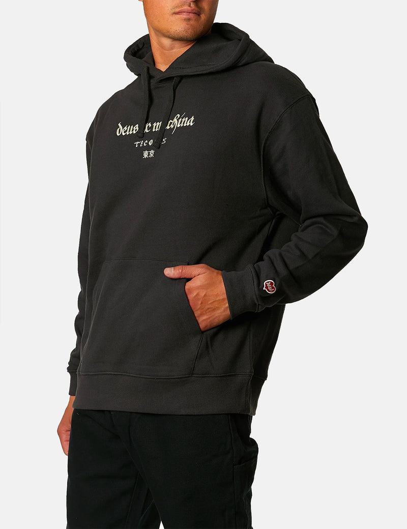 Deus Ex Machina Full Moon Hoodie - Phantom Black