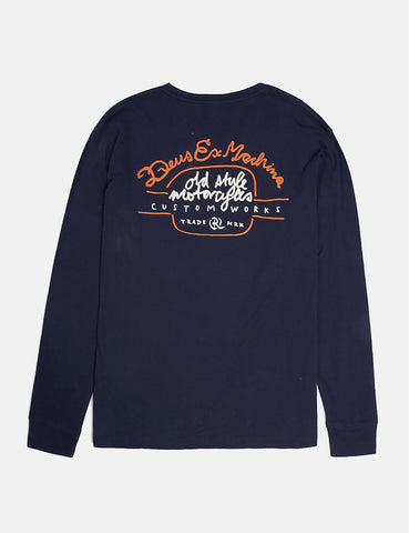 Deus Ex Machina Worker Long Sleeve T-Shirt - Navy
