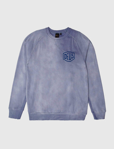 Deus Ex Machina Sunbleached Milan Sweatshirt - Steel Blue