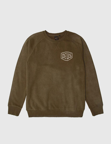Deus Ex Machina Sunbleached Milan Sweatshirt - Bark