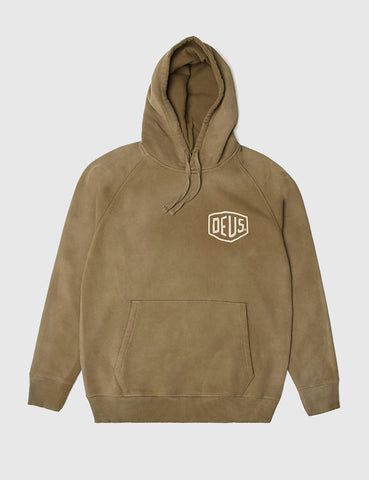 Deus Ex Machina Sunbleached Milan Hooded Sweatshirt - Bark