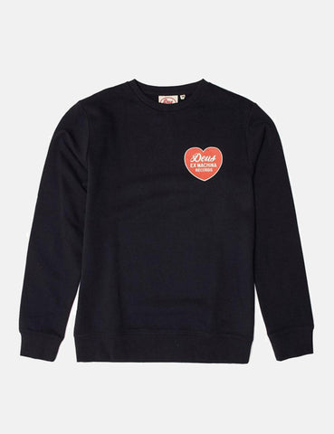 Deus Ex Machina Beating Heart Sweatshirt - Black