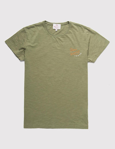 Deus Ex Machina Tiger Head T-shirt - Washed Green