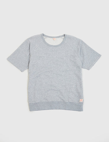Deus Ex Machina Sydney Short Sleeve Sweatshirt - Grey Marl