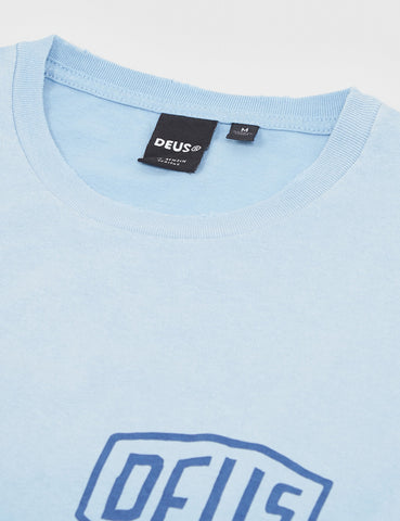 Deus Ex Machina Sunbleached Milan T-Shirt - Sky Blue