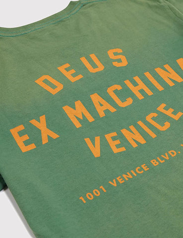 Deus Ex Machina Sunbleached Venice T-Shirt - Shamrock Green