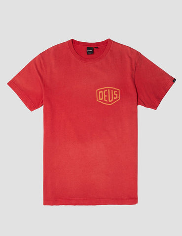 Deus Ex Machina Sunbleached Canggu T-Shirt - Rich Red