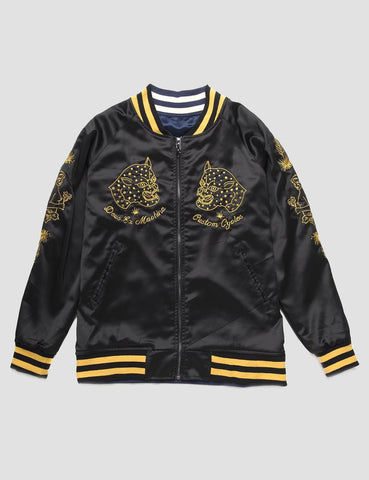 Deus Ex Machina Souvenir Bomber Jacket - Black/Navy