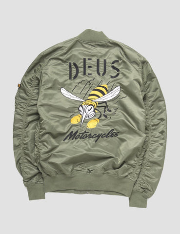 Deus Ex Machina MA1 Flight Jacket - Green
