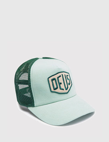 Deus Ex Machina Foxtrot Shield Trucker Cap - Mint Green