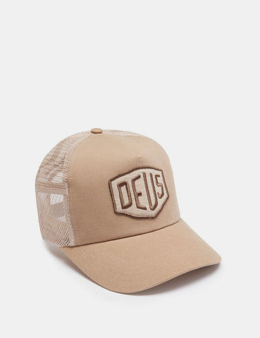 Deus Ex Machina Foxtrot Shield Trucker Cap - Tan