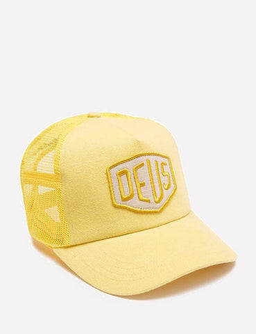 Deus Ex Machina Foxtrot Shield Trucker Cap - Yellow