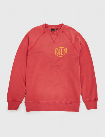 Deus Ex Machina Sunbleached Venice Sweatshirt - Rich Red