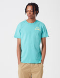 Deus Ex Machina Sunbleached Impermanence T-shirt - Lagoon Blue/ Yellow