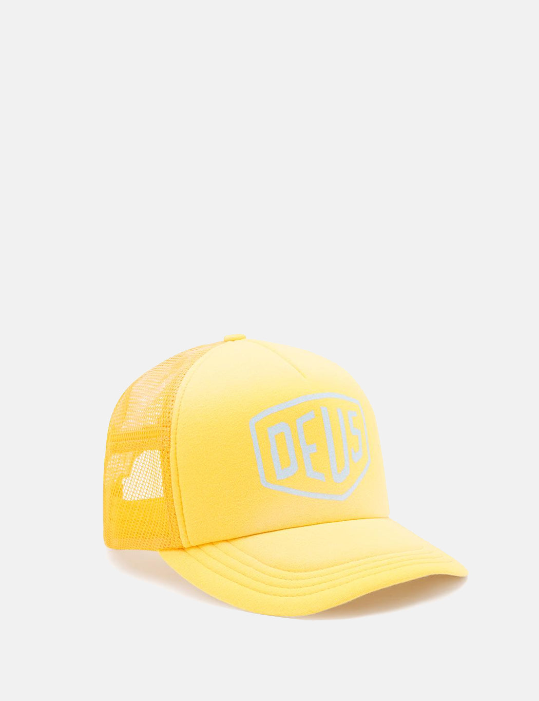 Deus Ex Machina Sunburnt Trucker Cap - Yellow/Lemon