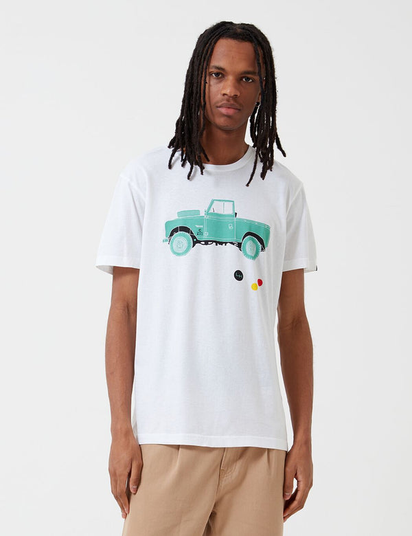 T-Shirt Deus Ex Machina Carby Landie - Blanc