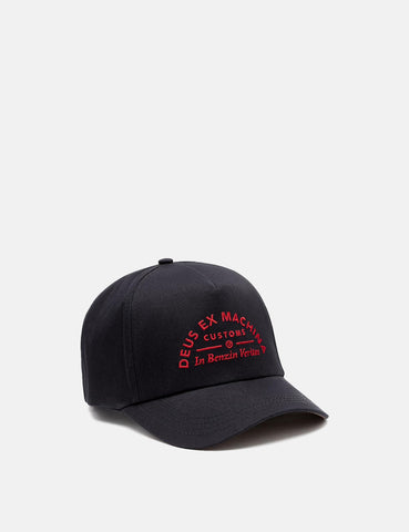 Deus Ex Machina Benzin Trucker Cap - Navy Blue