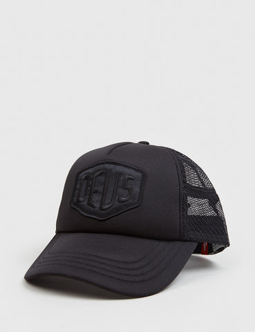 Deus Ex Machina Baylands Trucker Cap - Black