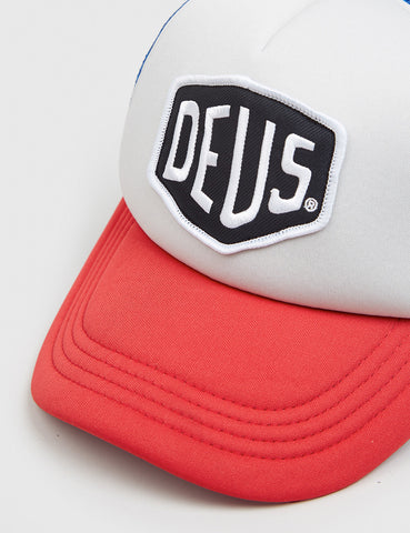Deus Ex Machina Baylands Trucker Cap - Red