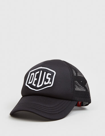 Deus Ex Machina Baylands Trucker Cap - Black/White