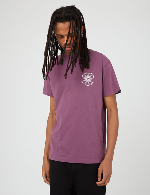 T-Shirt Recyclé Deus Ex Machina Estrelar - Berry Plum