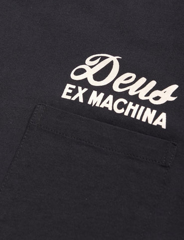 Deus Ex Machina Address Tokyo Pocket T-shirt - Black