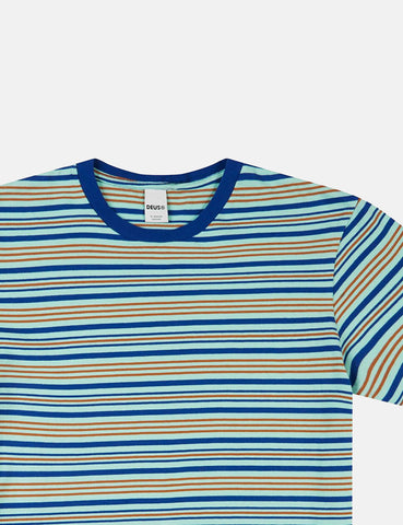 Deus Ex Machina Berties Stripe T-shirt - Blue Tint