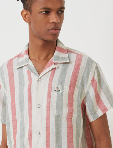 Deus Ex Machina Jose Stripe Shirt - Red/Green