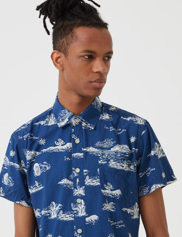 Deus Ex Machina Ralph Springs Shirt - Blue Springs