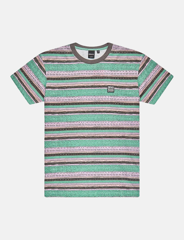 T-Shirt Deus Ex Machina Sunrise (Stripe) - Phantom Combo