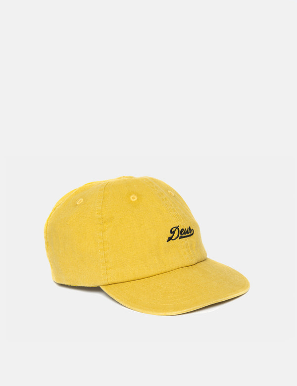 Deus Ex Machina Wes Hemp Cap - Washed Gold