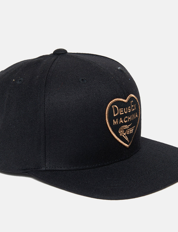 Deus Ex Machina Heart Baseball Cap - Black