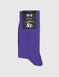 Democratique Solid Socks - Deep Purple