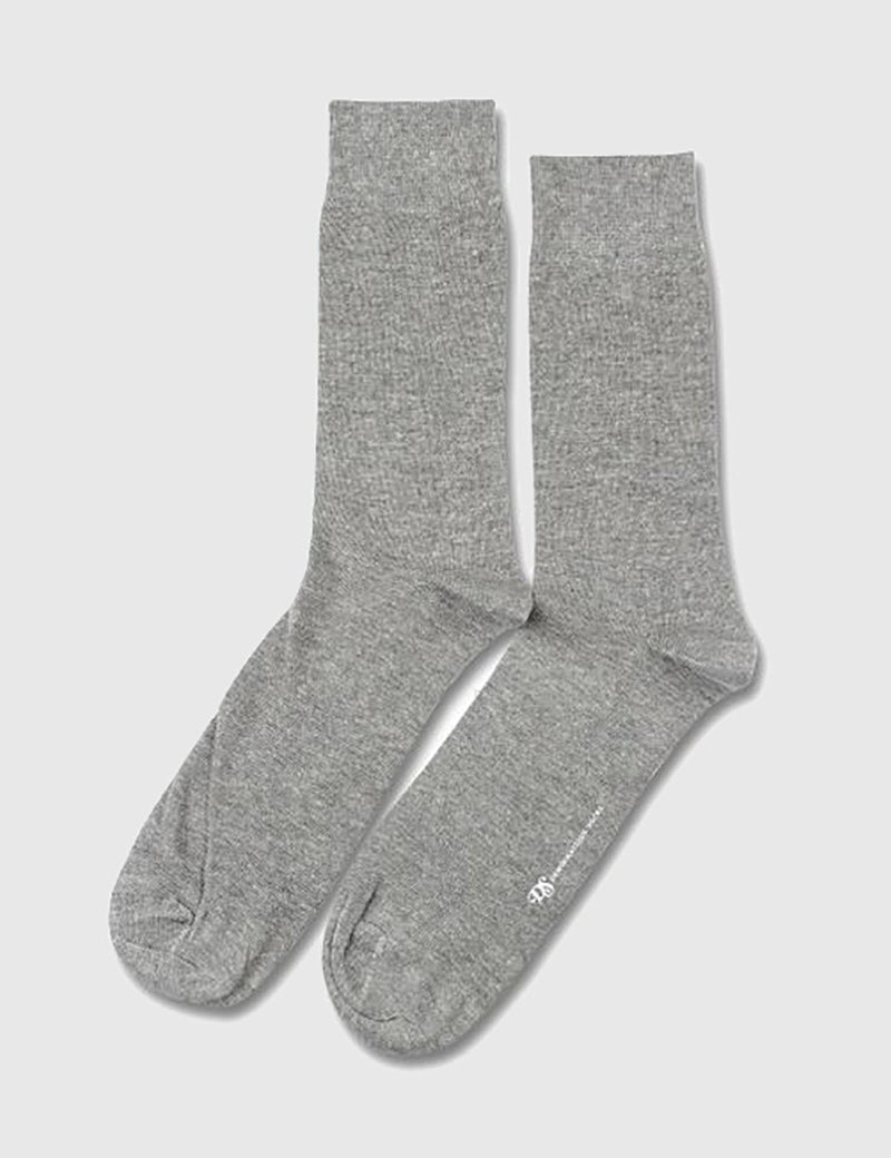 Democratique Solid Socks - Light Grey - Article