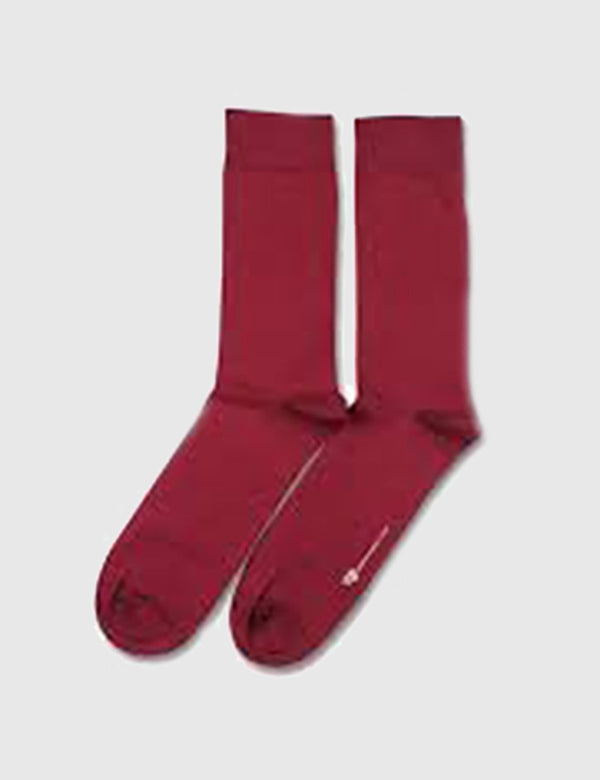 Democratique Solid Socks - Red Wine - Article