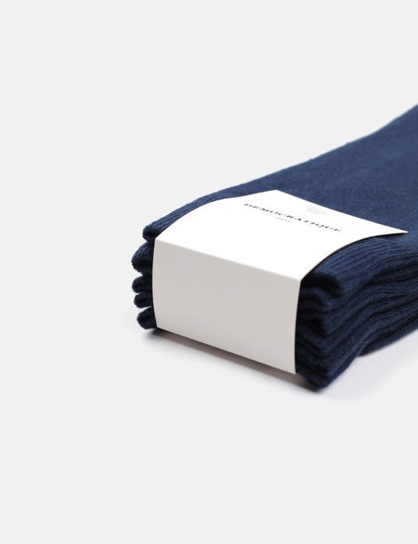 Democratique Solid Socks 3 Pack - Navy