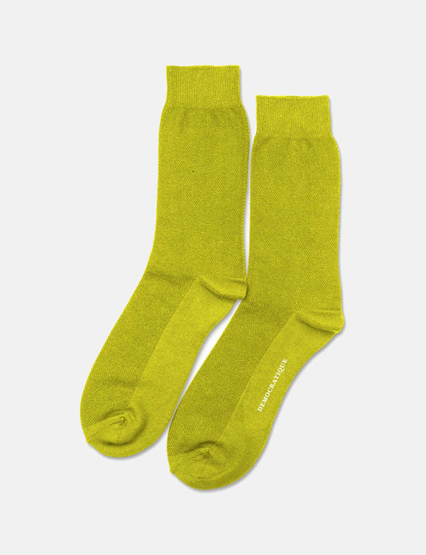 Chaussettes Democratique Original Solid - Bright Yellow
