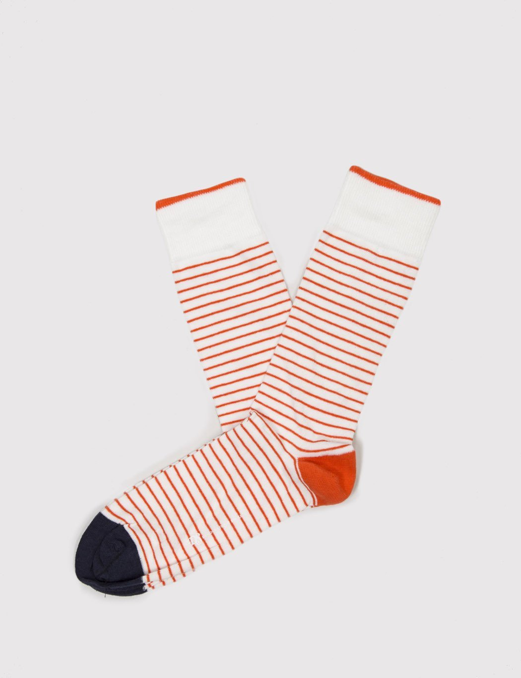 Democratique Original Mini Stripes - White/Orange/Navy