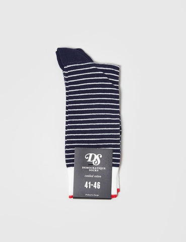 Democratique Original Mini Stripes - Navy/White/Red